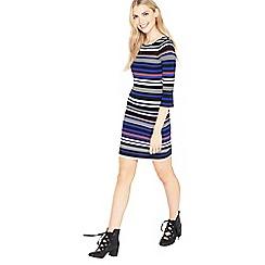 Miss Selfridge - Multi-stripe scoop back dry handle dress