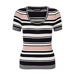 Miss Selfridge - Stripe scoop neck knitted top
