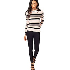 Miss Selfridge - Stripe knitted rib roll neck