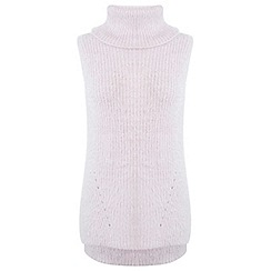 Miss Selfridge - Pink knitted fluffy tunic