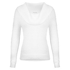 Miss Selfridge - Cream cowl neck fluffy jumper