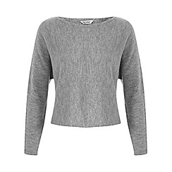 Miss Selfridge - Grey slouchy crop jumper
