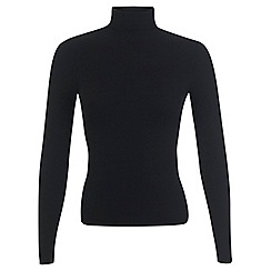 Miss Selfridge - Black rib roll neck jumper