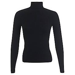 Miss Selfridge - Black rib roll neck jumper