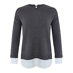 Miss Selfridge - Grey 2 in 1 jumper