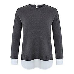 Miss Selfridge - Grey 2 in 1 jumper