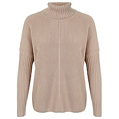 Miss Selfridge - Camel chunky roll neck jumper