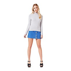 Miss Selfridge - Silver grey twist rib jumper