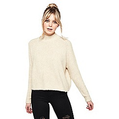 Miss Selfridge - Oatmeal funnel neck jumper