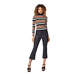 Miss Selfridge - Camel stripe rib jumper