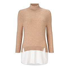 Miss Selfridge - Roll neck shirt 2 in 1
