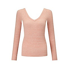 Miss Selfridge - Pink v front rib jumper