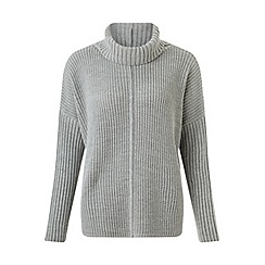 Miss Selfridge - Grey chunky roll neck jumper