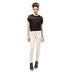 Miss Selfridge - Black crochet top