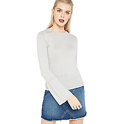 Miss Selfridge - Grey flute sleeve jumper