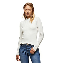 Miss Selfridge - Cream pointelle rib jumper