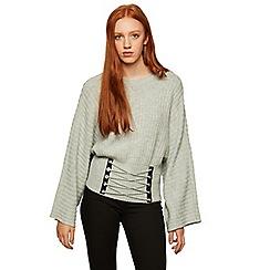 Miss Selfridge - Grey corset wide sleeves jumper