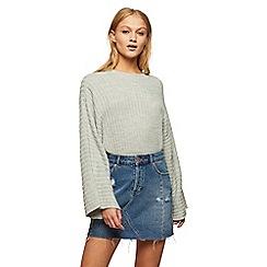 Miss Selfridge - Grey wide sleeves jumper