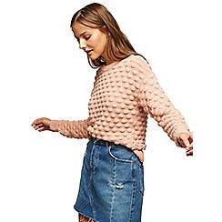Miss Selfridge - Pink bobble jumper