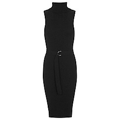 Miss Selfridge - D ring belt midi knitted dress