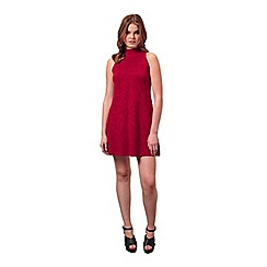 Miss Selfridge - Rust high neck swing dress