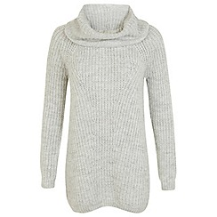 Miss Selfridge - Grey slouchy knitted dress