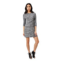 Miss Selfridge - Twist ribbed swing knit dress