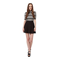 Miss Selfridge - Half sleeve stripe knit top