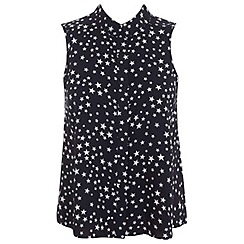 Miss Selfridge - Sleeveless star print shirt