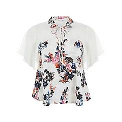 Miss Selfridge - Floral keyhole angel blouse