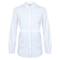 Miss Selfridge - White double layer shirt