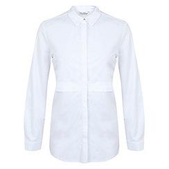 Miss Selfridge - White double layer shirt