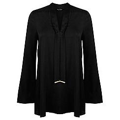Miss Selfridge - Black tie neck tunic