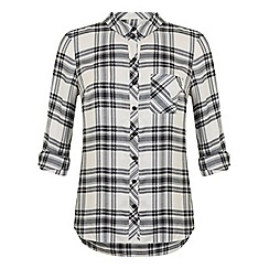 Miss Selfridge - Black and white check shirt