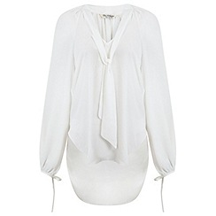 Miss Selfridge - White pussybow blouse
