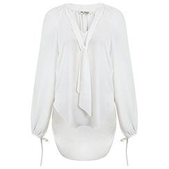 Miss Selfridge - White pussybow blouse