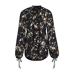Miss Selfridge - Printed pussy bow blouse