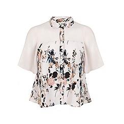 Miss Selfridge - Angel sleeve print blouse