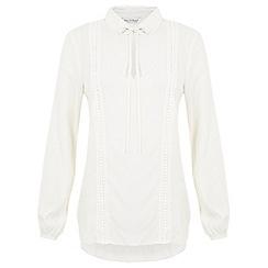 Miss Selfridge - Crochet insert blouse