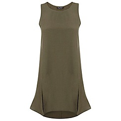 Miss Selfridge - Khaki split front tunic