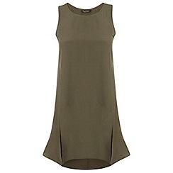 Miss Selfridge - Khaki split front tunic