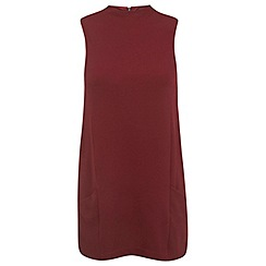 Miss Selfridge - Burgundy double pocket tunic