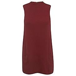 Miss Selfridge - Burgundy double pocket tunic