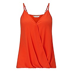 Miss Selfridge - Red drape cami