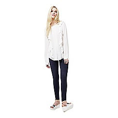 Miss Selfridge - Long sleeve pintuck blouse