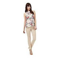 Miss Selfridge - Nude floral lace shell