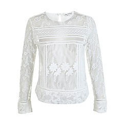 Miss Selfridge - Cream floral lace blouse