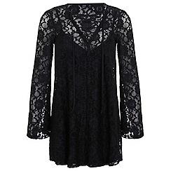 Miss Selfridge - Black lace up tunic