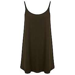 Miss Selfridge - Khaki double layer tunic