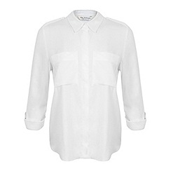 Miss Selfridge - Ivory twill utility shirt